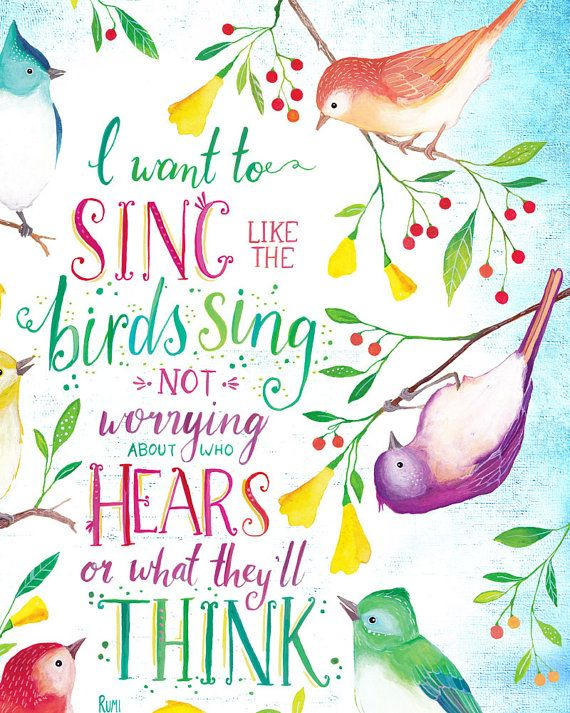 Image result for quotes singing birds