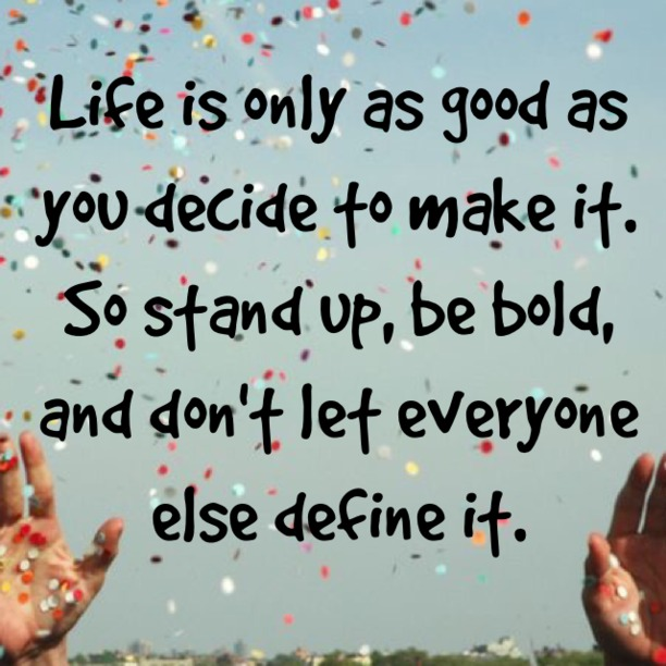 Stand Up Be Bold