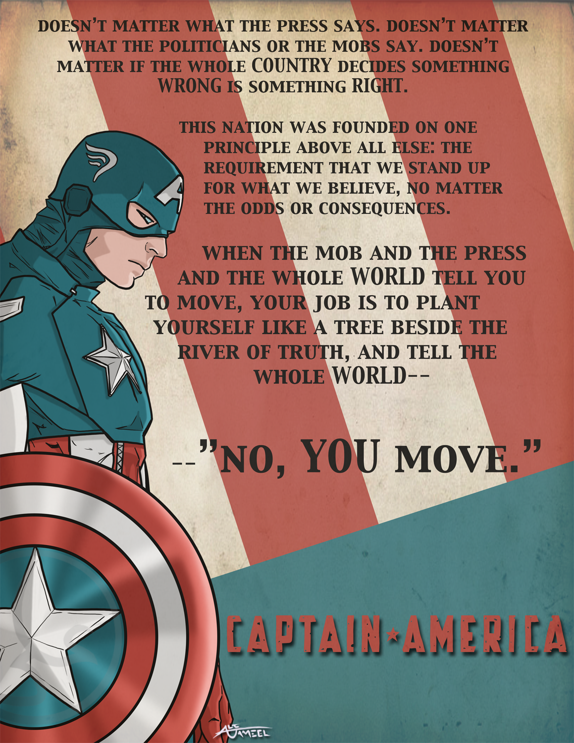 Stand Up For What We Believe Captain America Daily Quotes Sayings Pictures