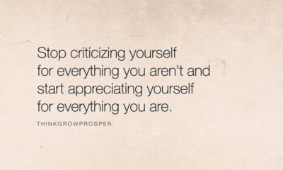 Stop Criticizing Yourself