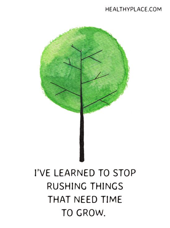 Stop Rushing Things