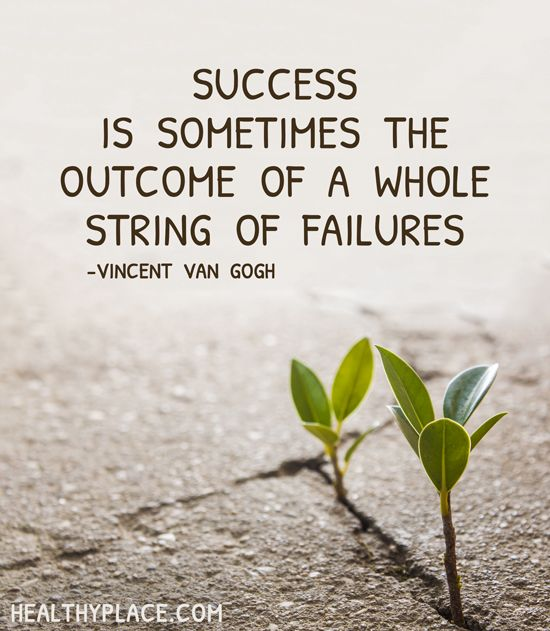Success is sometimes the outcome of a whole string of failures. - Vincent Van Gogh