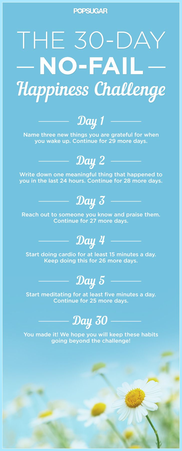 The 30 Day No Fail Happiness Challenge