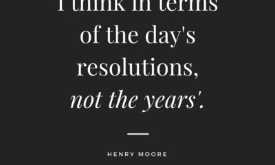 The Days Resolutions Henry Moore Daily Quotes Sayings Pictures