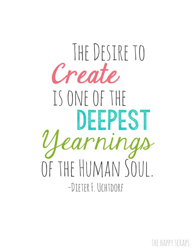 The Desire To Create