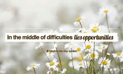 The Middle Of Difficulties