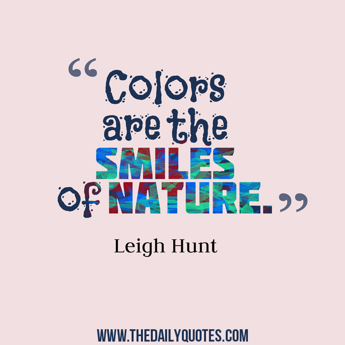 The Smiles Of Nature