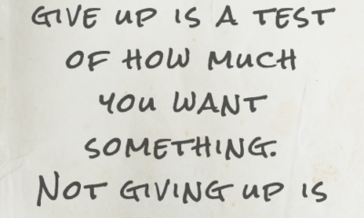 Wanting To Give Up