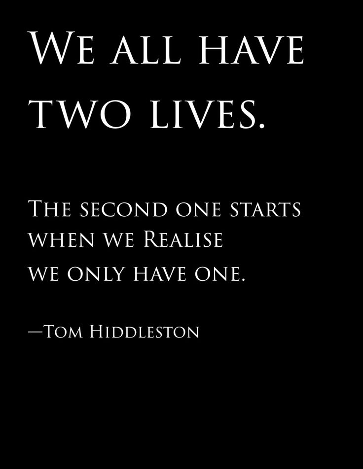 We All Have Two Lives