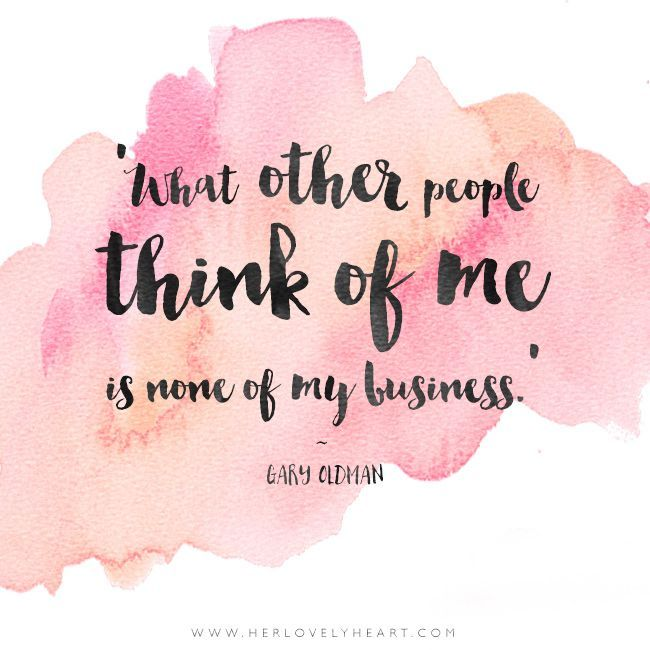 What Other People Think Of Me