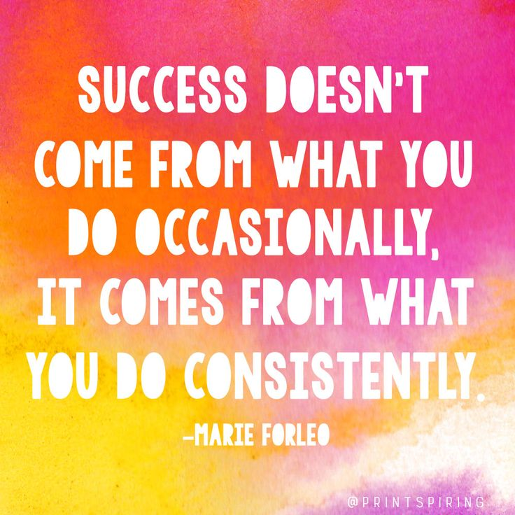 What You Do Consistently