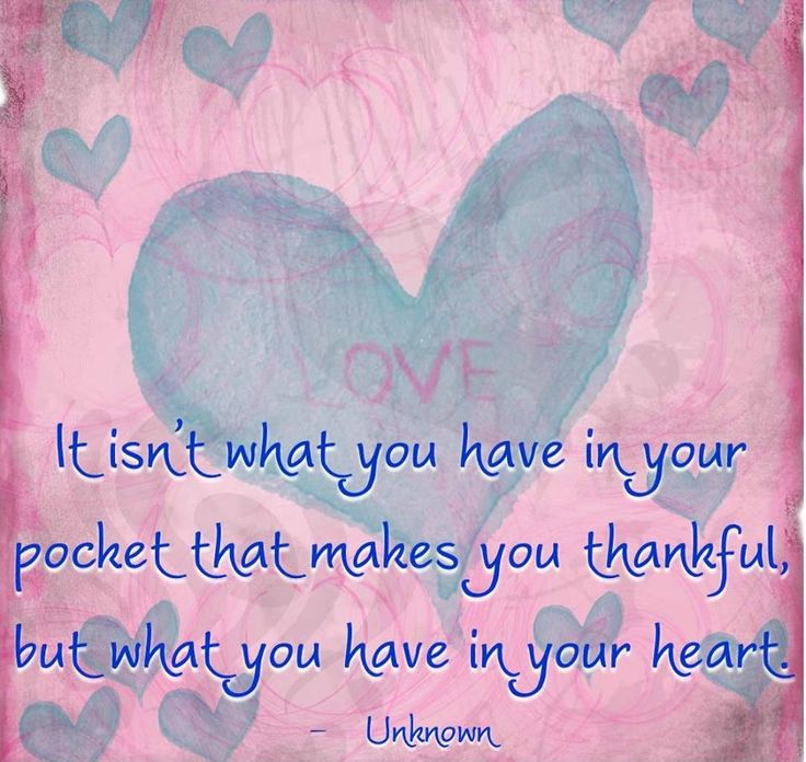 What You Have In Your Heart