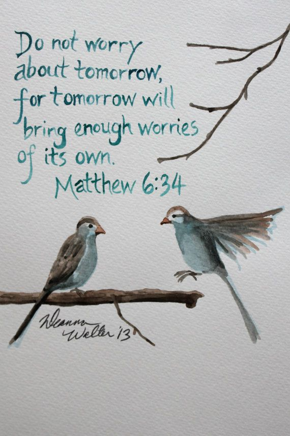 Worry About Tomorrow
