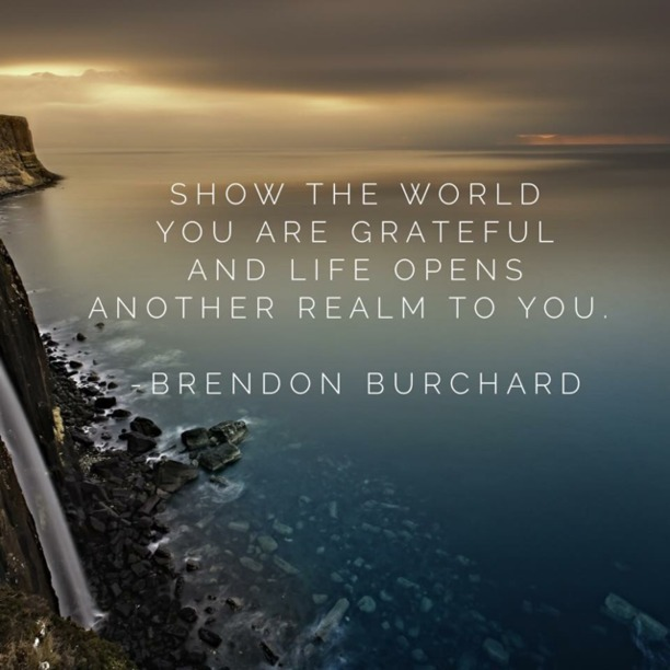 You Are Grateful