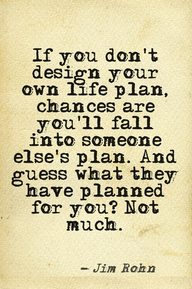 Your Own Life Plan