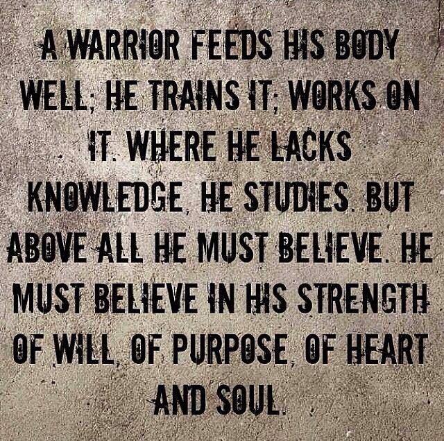 A Warrior Feeds His Body