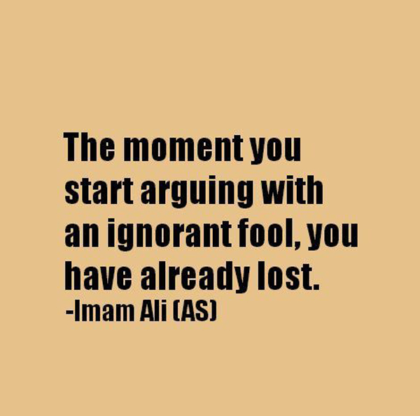 Arguing With A Fool