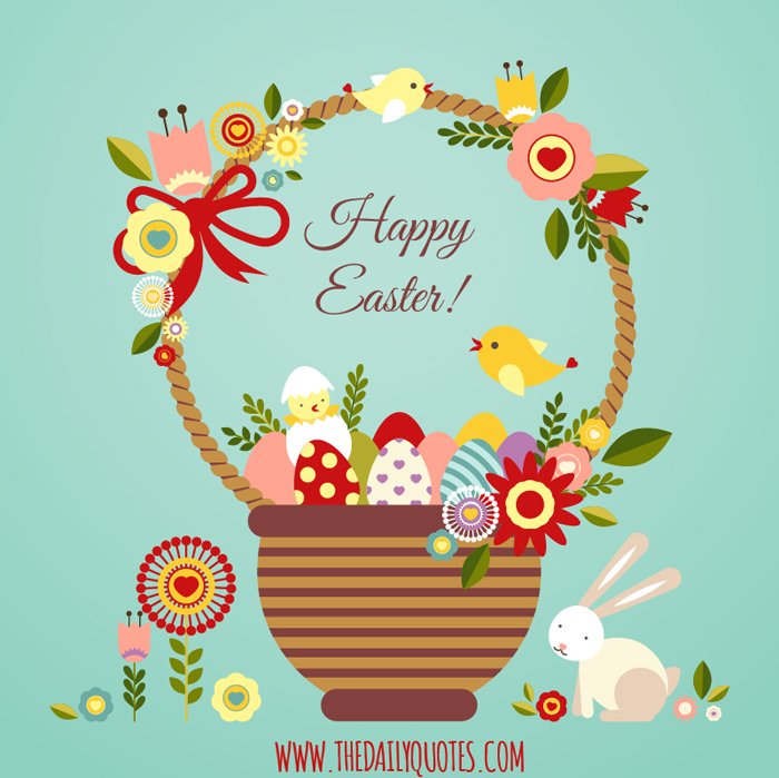 Cute Happy Easter Basket