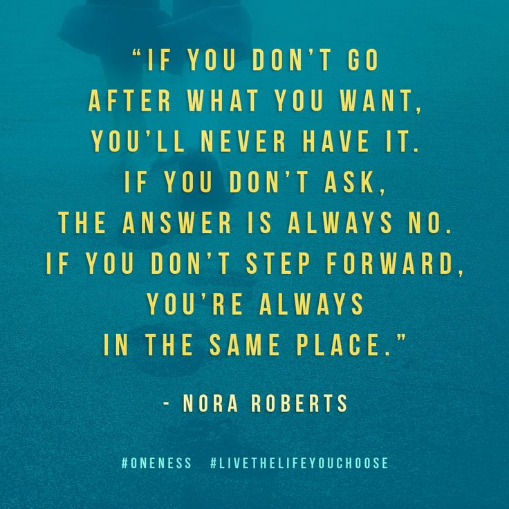 Go After What You Want