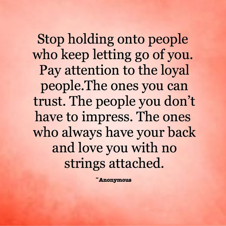 Holding Onto People