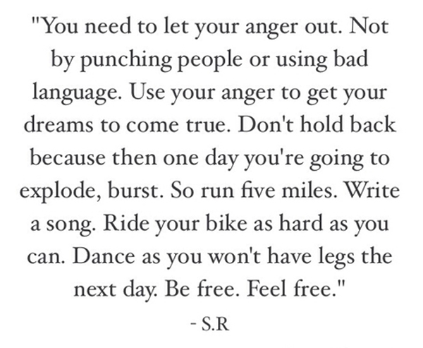 Let Your Anger Out
