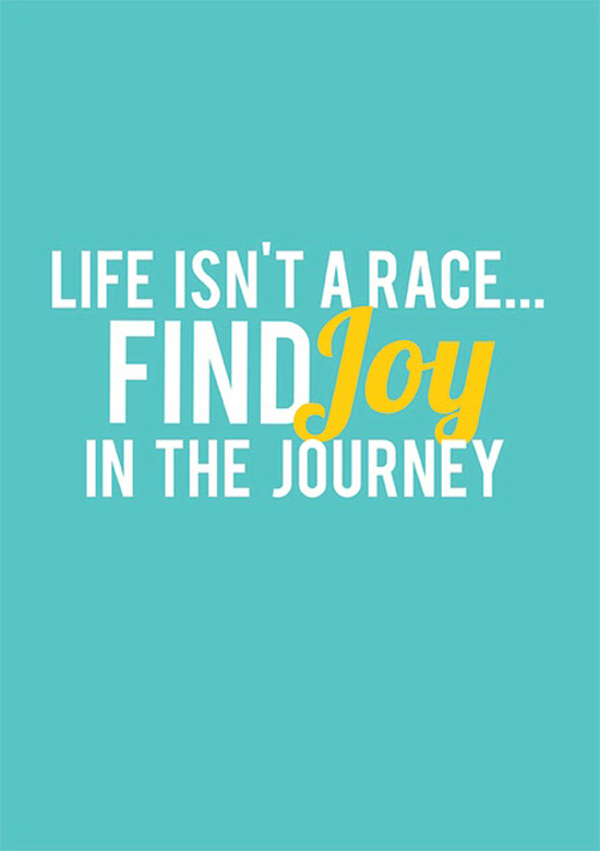 Life Isnt A Race