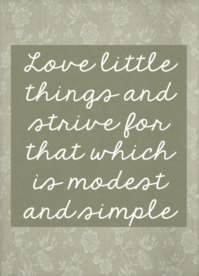 Love Little Things