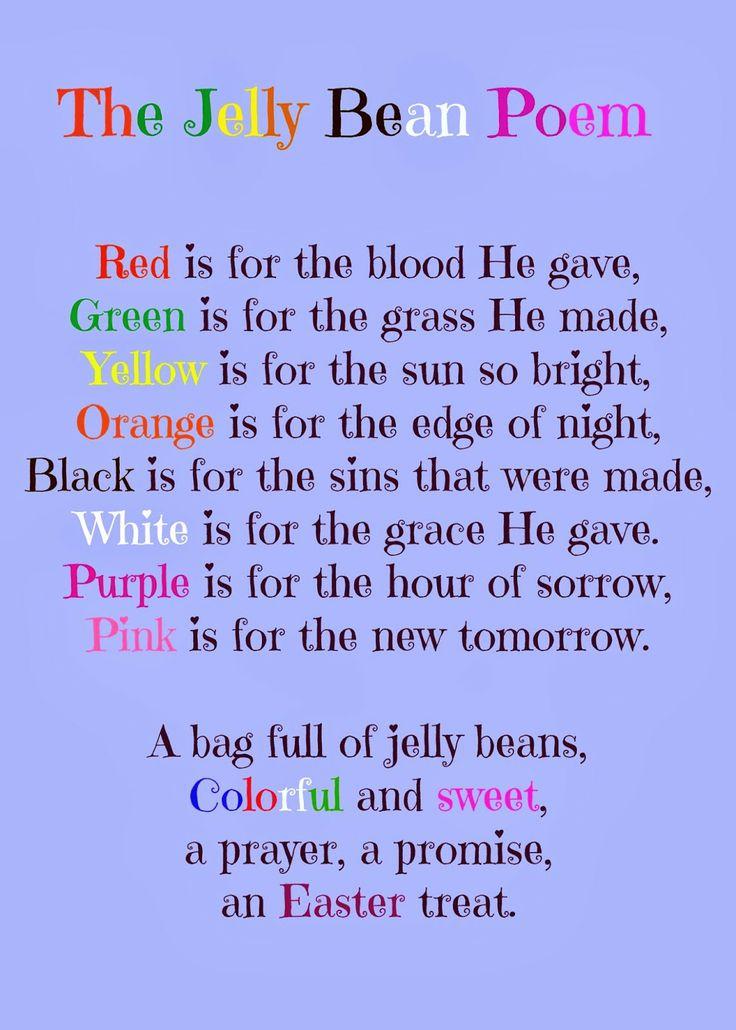 The Jelly Bean Poem