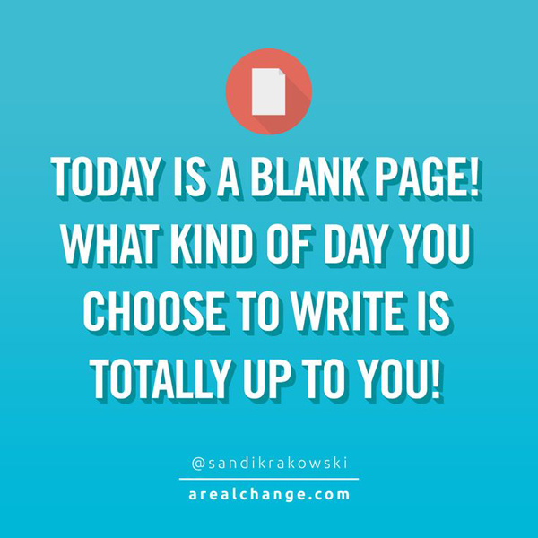 Today Is A Blank Page