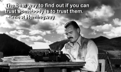 Trust Someone Ernest Hemingway Daily Quotes Sayings Pictures