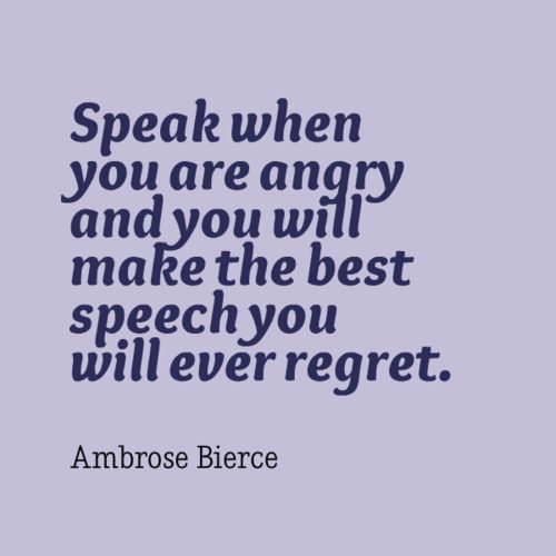 When You Are Angry