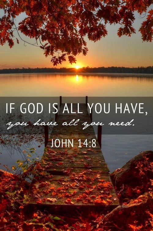 God is All you Need Bible Quotes
