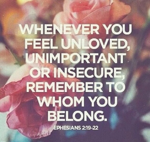 Feel Unloved Bible Quotes