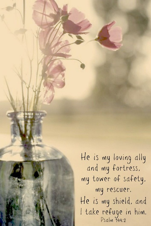 He is my Loving Ally Bible Quotes