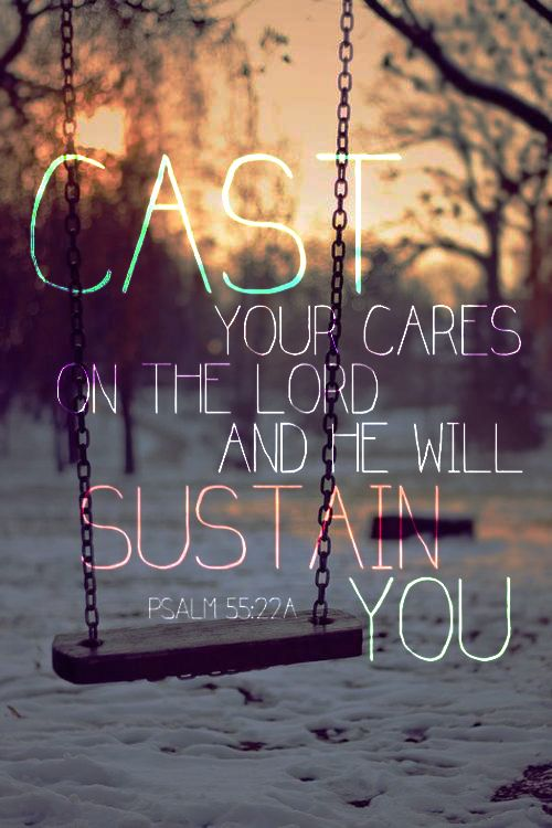 Cast your Cares Bible Quotes