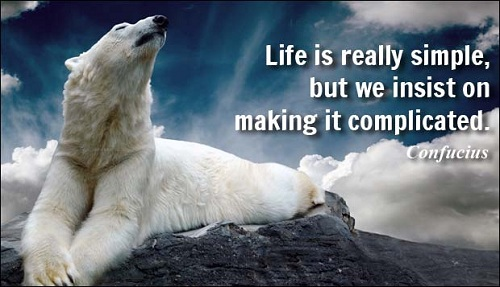 Life is Simple Lovely Quotes