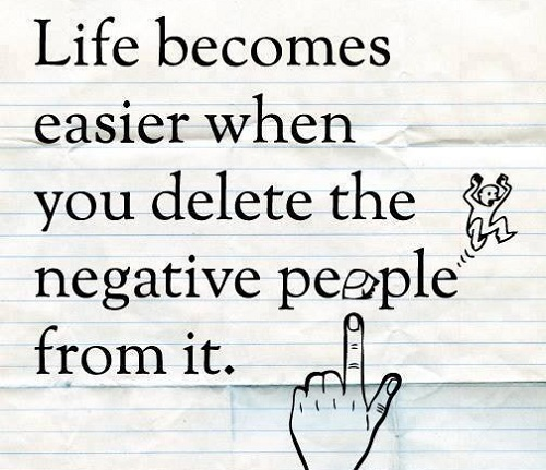 Delete Negative Lovely Quotes