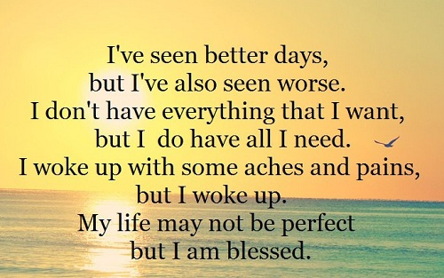 Blessed Life Lovely Quotes