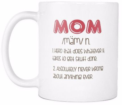 'Mom Definition' Mother Daughter Quotes White Mug