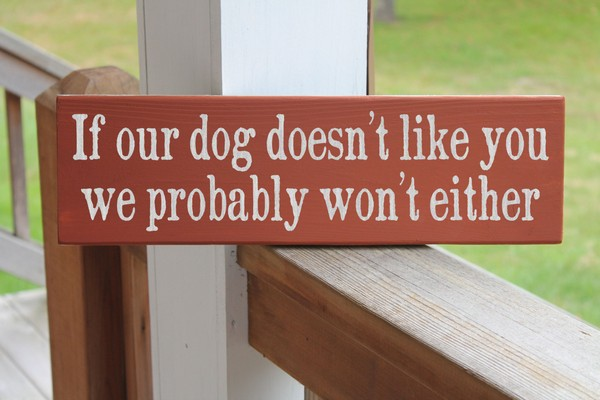 Funny Dog Sign