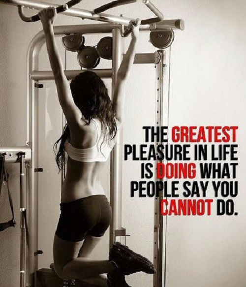 Pleasure in Life Gym Quotes