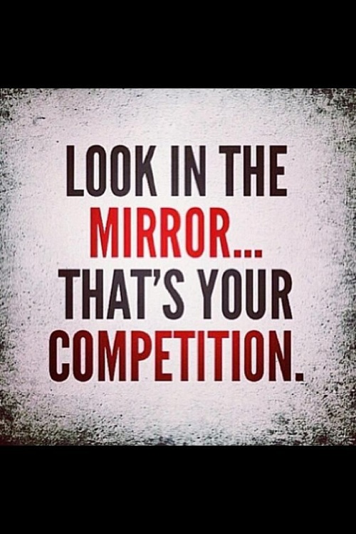 Look in the Mirror Gym Quotes