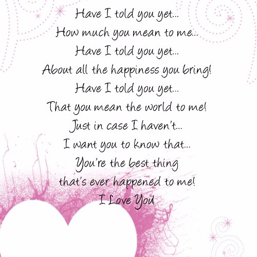 Cute Love Poems