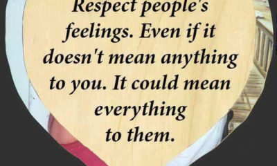Respect Peoples Feelings
