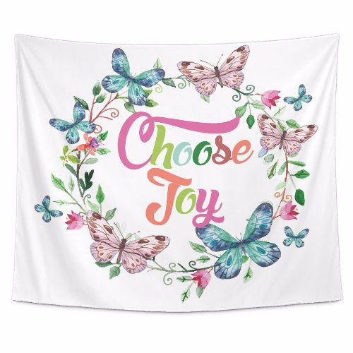 Choose Joy Beautiful Smile Quotes Tapestry