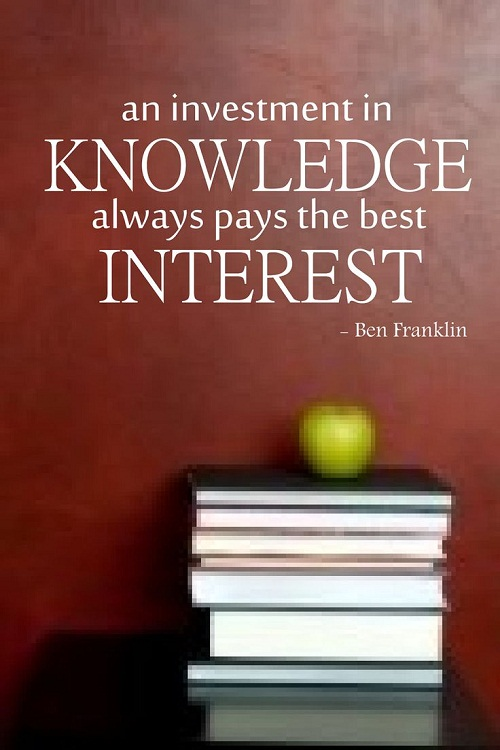 Knowledge Investment Graduation Quotes