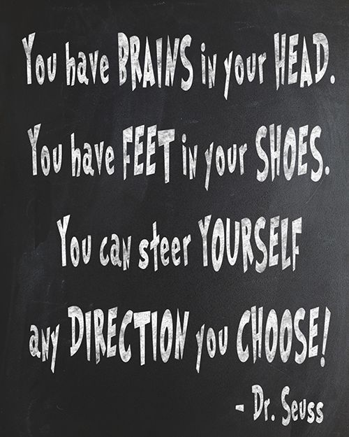 Brains in your Head Graduation Quotes
