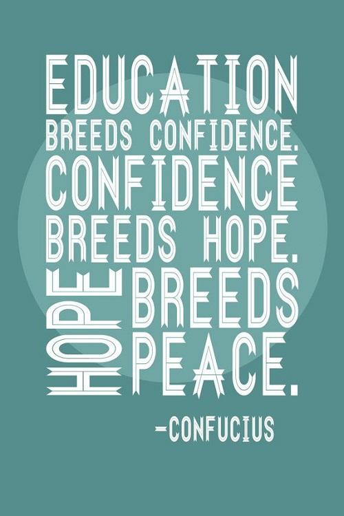 Education Breeds Confidence Graduation Quotes