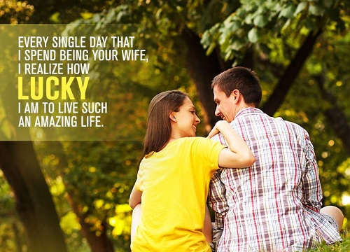 Lucky Wife Love Quotes for Husband