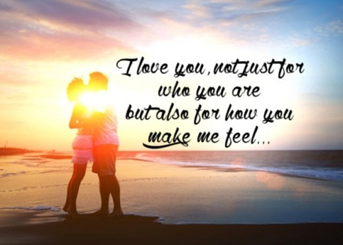 How you Make me Feel Love Quotes for Husband